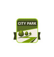 city park nature and eco green trees icon vector image vector image