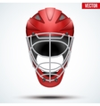 Classic Red Goalkeeper Hockey field Helmet vector image vector image