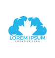 cloud and maple leaf canada logo design vector image vector image