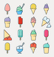 collection of ice cream icons vector image vector image