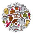 concept tea icons vector image vector image