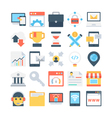 Digital Marketing Colored Icons 4 vector image vector image