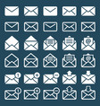 e-mail mail or sms icons vector image