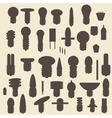 Electric bulbs silhouette icons set Perfect for vector image