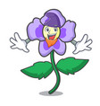 elf pansy flower character cartoon vector image