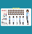 female doctor character creation set healthcare vector image