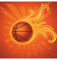 Fire Basketball Ball vector image