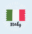 flag italy vector image vector image
