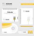 fork and spoon logo calendar template cd cover vector image vector image