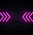 futuristic sci fi modern neon pink glowing arrows vector image vector image