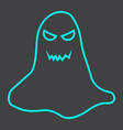 ghost line icon halloween and scary horror sign vector image vector image
