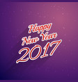 happy new year 2017 text style background vector image vector image