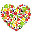 heart from vegetables vector image vector image