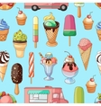 Ice creams collection pattern vector image vector image