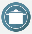 icon kitchen on white circle with a long shadow vector image