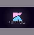 ik alphabet letter join joined letter logo design vector image vector image