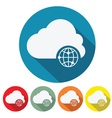 internet cloud web design vector image vector image