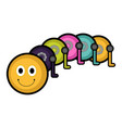 isolated stuffed worm toy icon vector image
