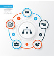 job icons set collection of contract hierarchy vector image vector image
