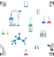 lab equipment flat seamless pattern test vector image vector image