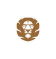 lion logo template vector image