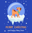merry christmas and happy new year 2018 symbol vector image vector image