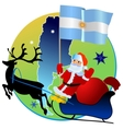 Merry Christmas Argentina vector image