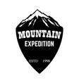 mountain expedition emblem template with mountain vector image vector image