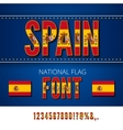 National Flag Font vector image