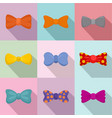 neck decoration icons set flat style vector image vector image