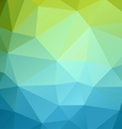 Poligonal color background vector image vector image
