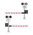 railway barrier isolated on white background vector image vector image