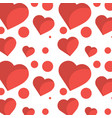 romantic heart love pattern image vector image