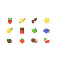 set different flavor icons logo design template vector image
