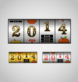 Slot maching with 2014 digits set vector image