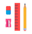 stationery items isolated on white vector image vector image