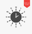 Sun clock icon Summer time concept Flat design
