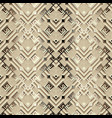 surface ornamental 3d ggreek seamless pattern vector image