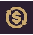 The currency exchange dollar icon Cash and money vector image vector image