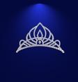 tiara with precious stones 2 vector image