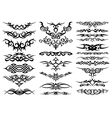 Tribal tattoo silhouettes vector image vector image