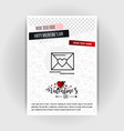 valentines day love poster template place for vector image vector image