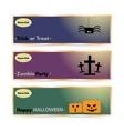 Website spooky header or banner set with Halloween vector image vector image