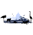 Wild animals and birds in Brazil vector image vector image