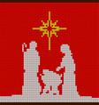 christmas scene of the birth of jesus vector image