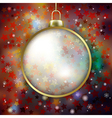 Abstract red background with Christmas decoration vector image