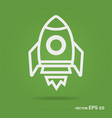 rocket outline icon white color vector image