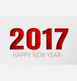 template white background happy new year 2017 vector image