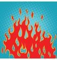 Fire red pop art vector image