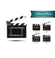 a set of clapper on a white background with vector image vector image